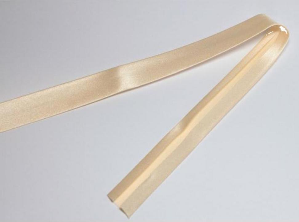Banda bias Duchesse, alb natural, 40/20 mm
