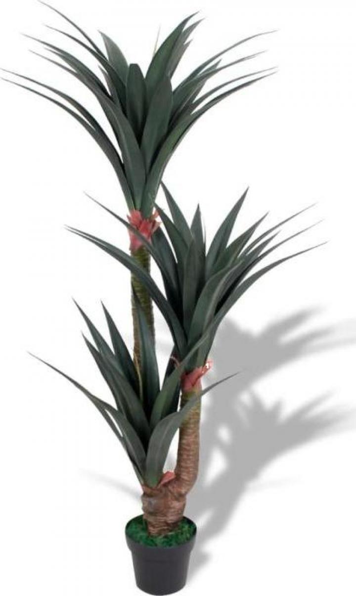 Planta artificiala Yucca cu ghiveci, 155 cm, verde