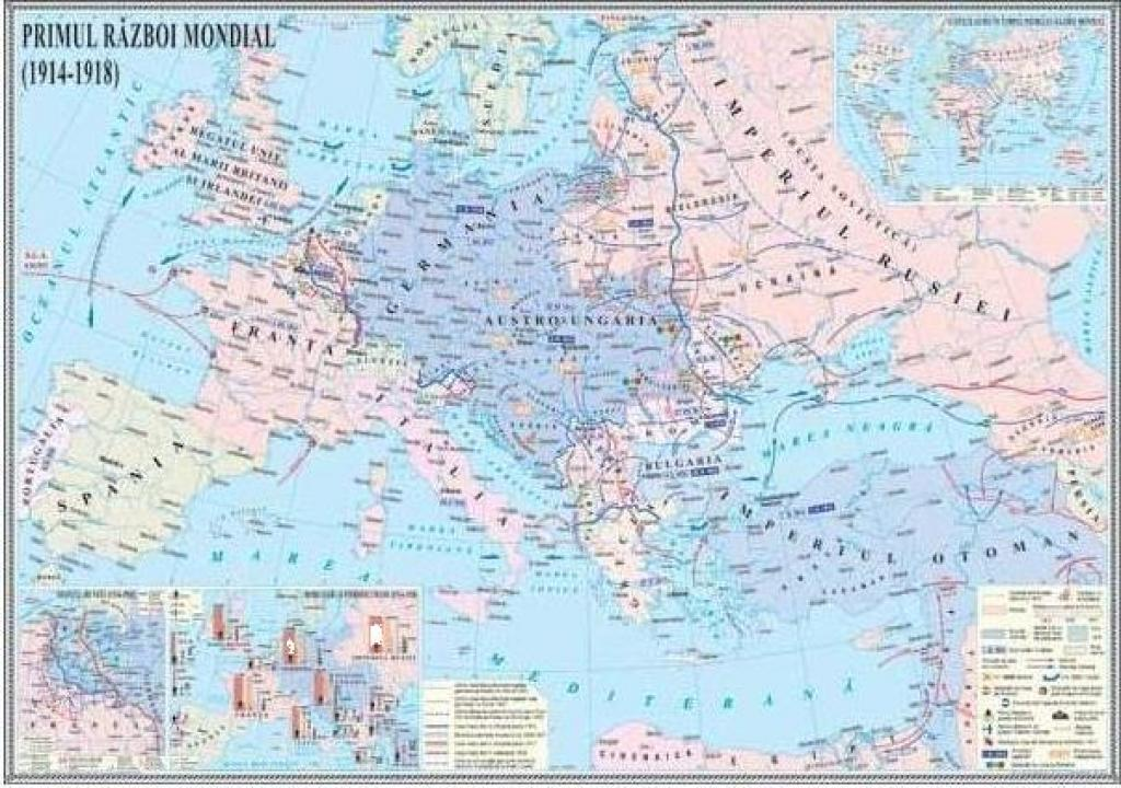 Harta murala Primul Razboi Mondial (1914-1918)