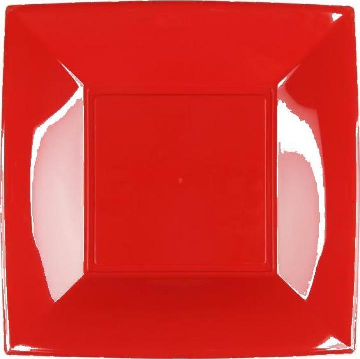 Farfurie rosie Gold Plast23x23 cm PP set 25