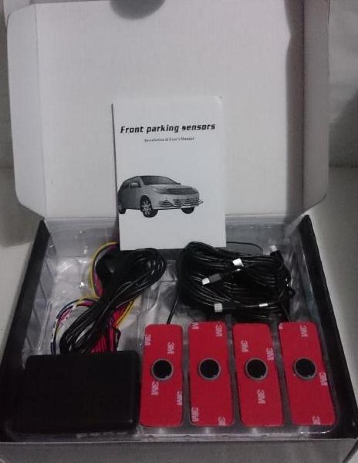 Senzori parcare de fata cu avertizare sonora, fara display