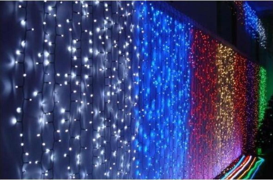Perdea luminoasa 560 leduri albastre 2x3m