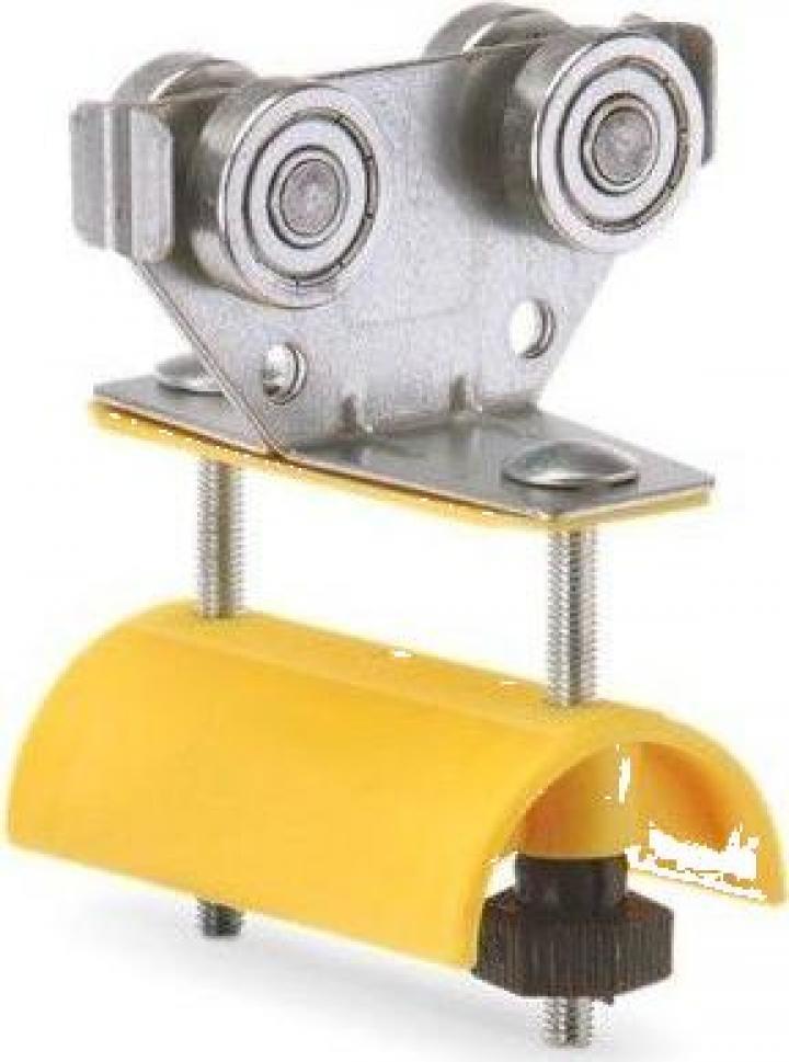 Carucior cablu plat B, E30-LWF, WLL=10kg, L=80mm