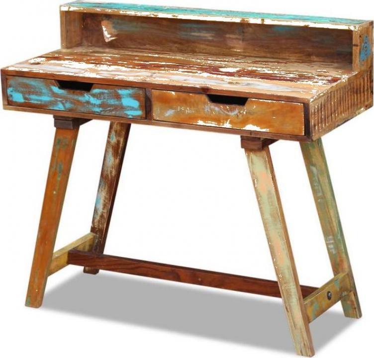 Birou din lemn reciclat de esenta tare
