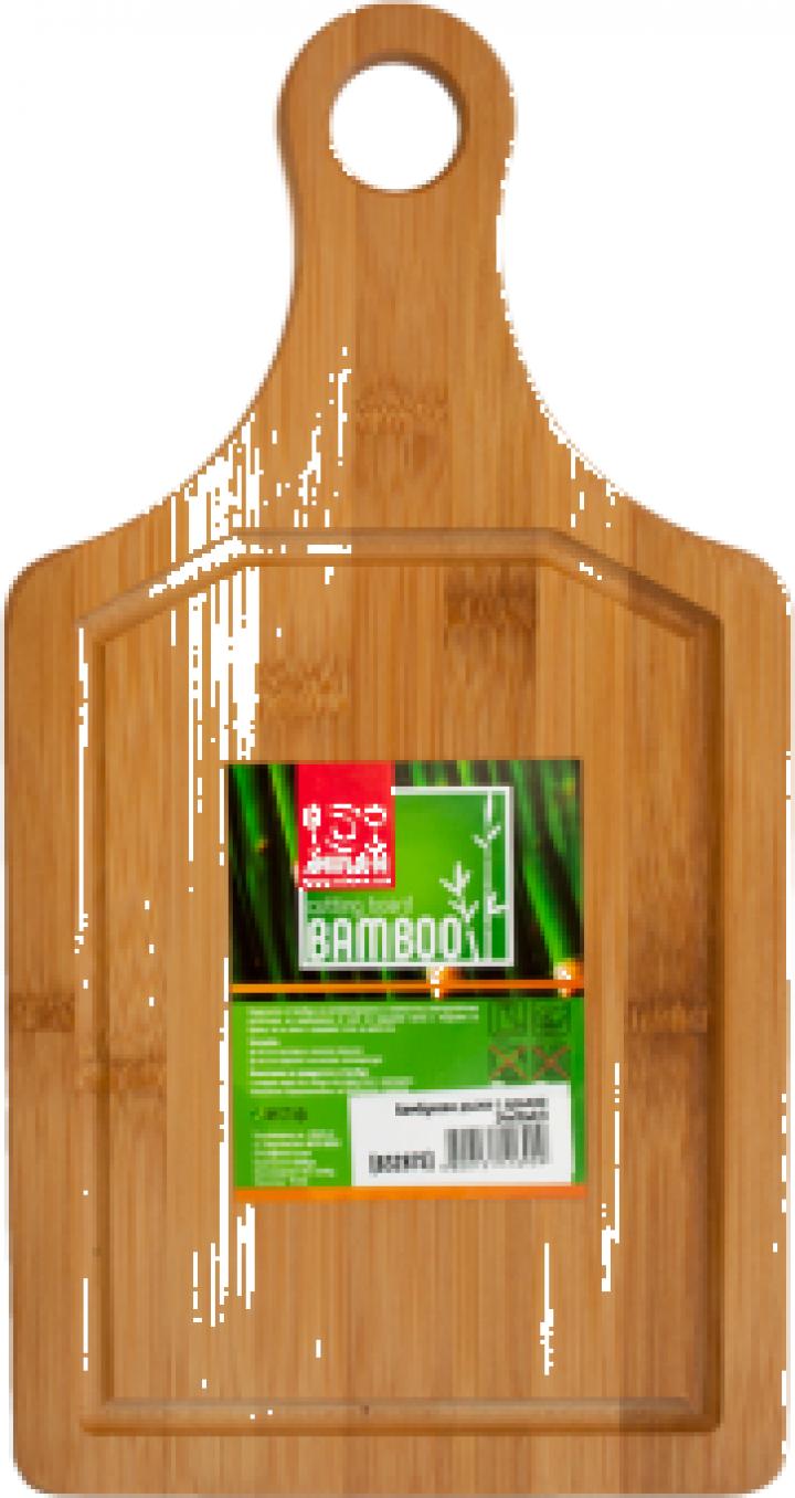 Tocator bucatarie bambus cu toarta Raki 34x18x0,9cm