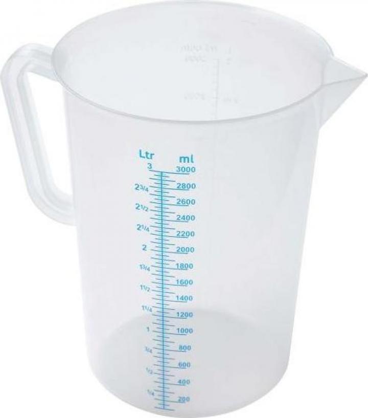 Cana din polipropilena gradata profesionala 0.5 litri