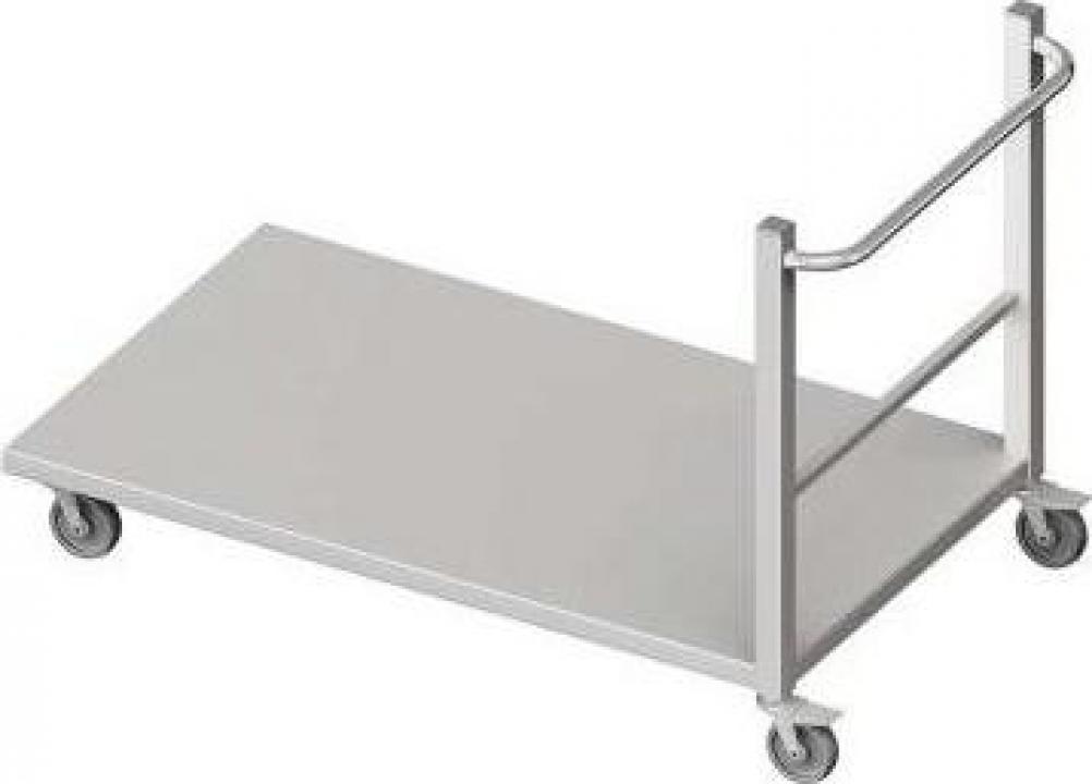 Carucior inox cu platforma 80x50x95 cm