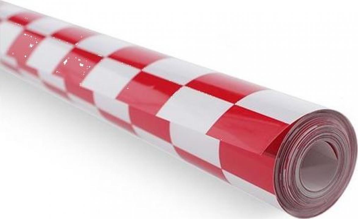 Folie termoadeziva rosu/ alb (1 m)