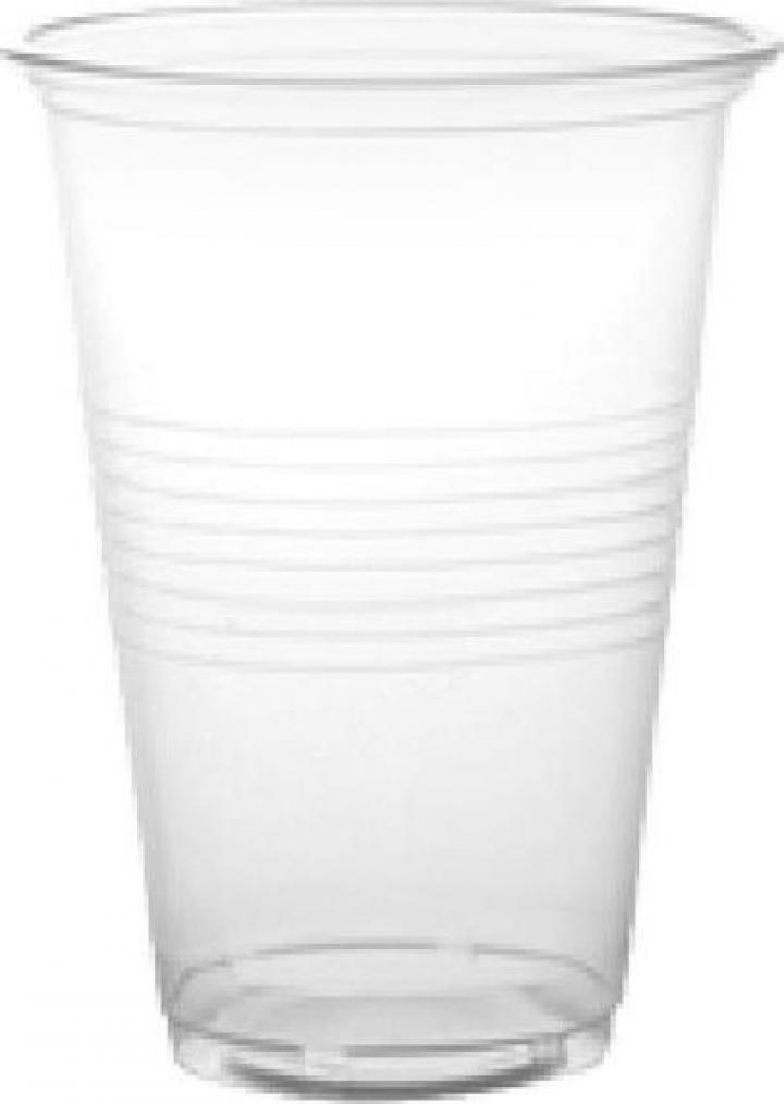 Pahare transparente, PS, 180ml, unica folosinta (25 buc)