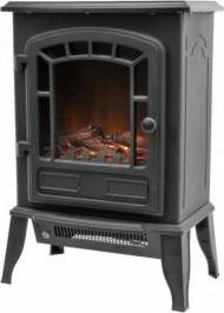 Semineu electric Home FKK 15, putere 1000 2000 W, negru