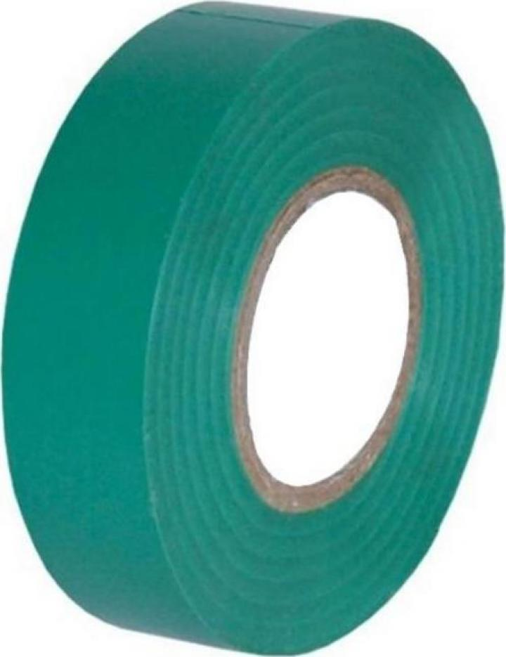 Banda izolatoare latime 18mm, lungime 20m, culoare verde