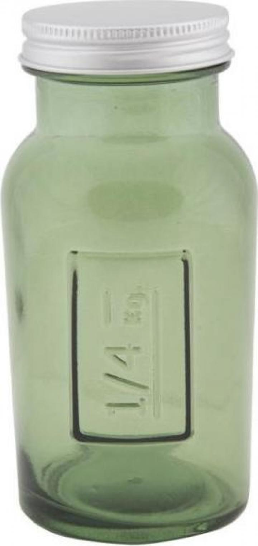 Borcan sticla reciclata Green (cm) 6,5X13,5