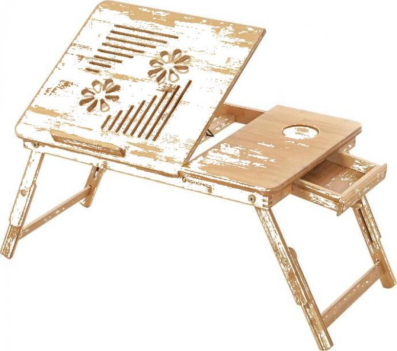 Masuta laptop, bambus, 55x35x29 cm, nature