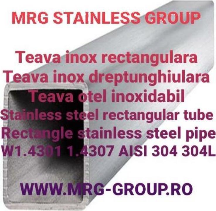 Teava inox rectangulara 100x50x3mm