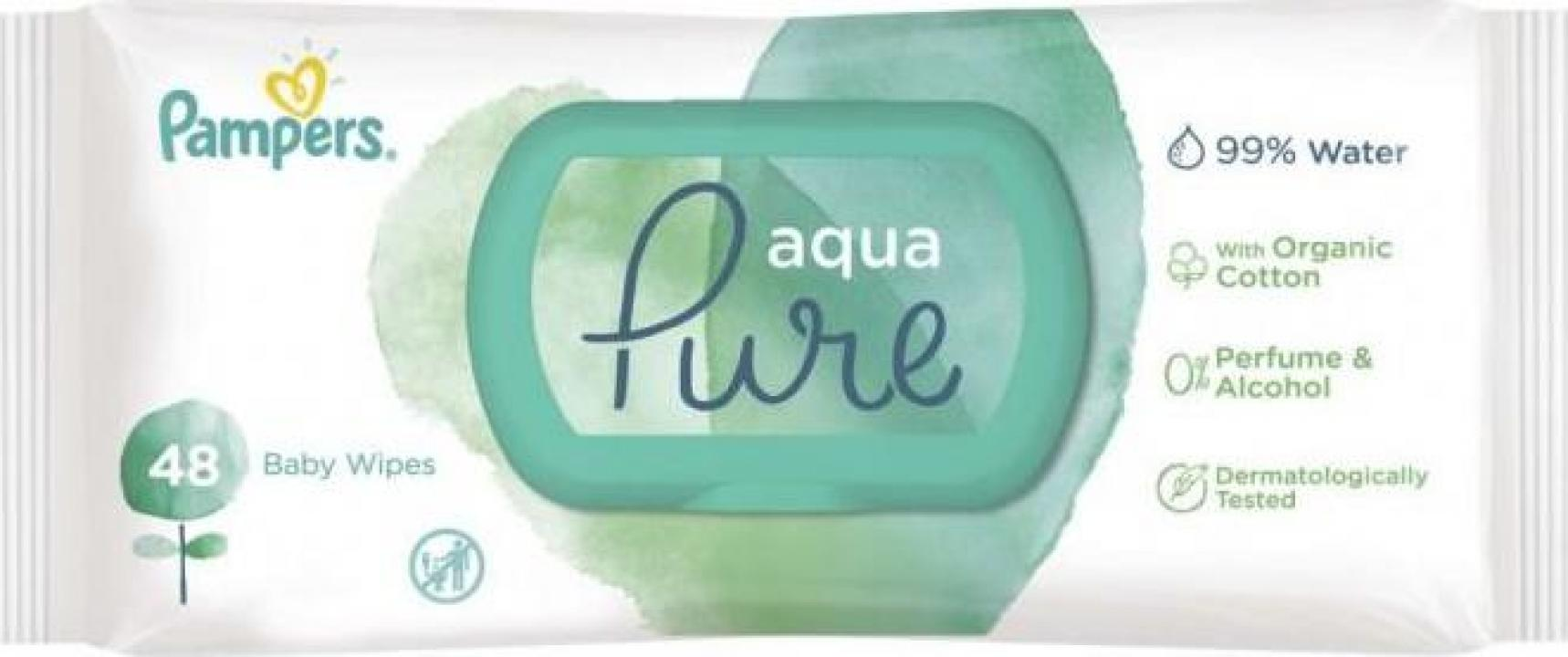 Servetele umede Pampers Aqua Pure 48buc