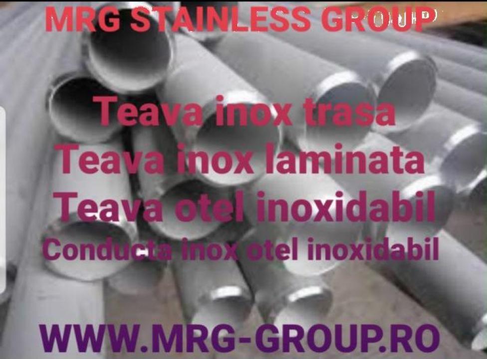 Teava inox trasa 21.3x2.6mm laminata bara gaurita inoxidabil