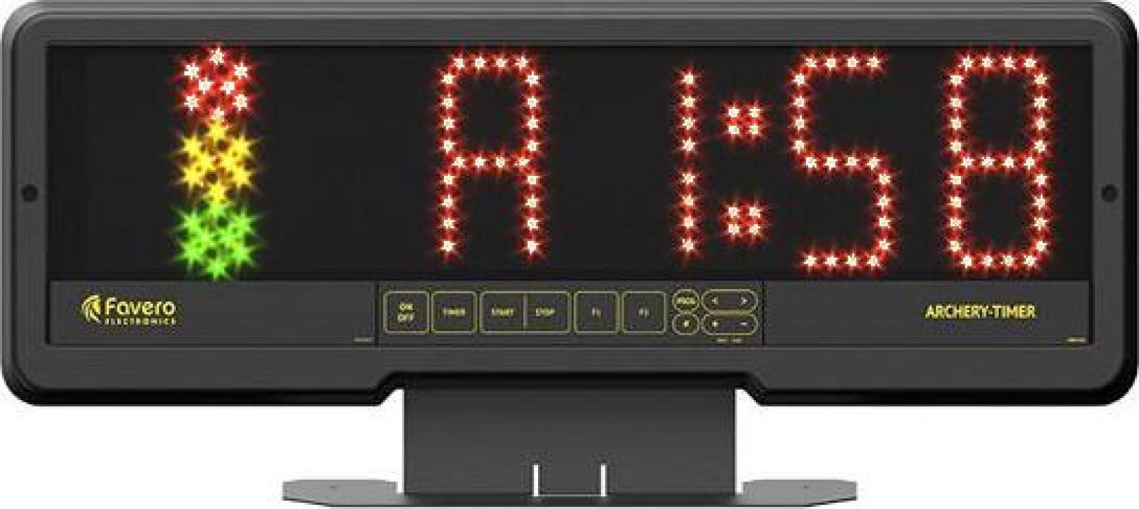 Cronometru tir cu arcul cu lumini de semnalizare
