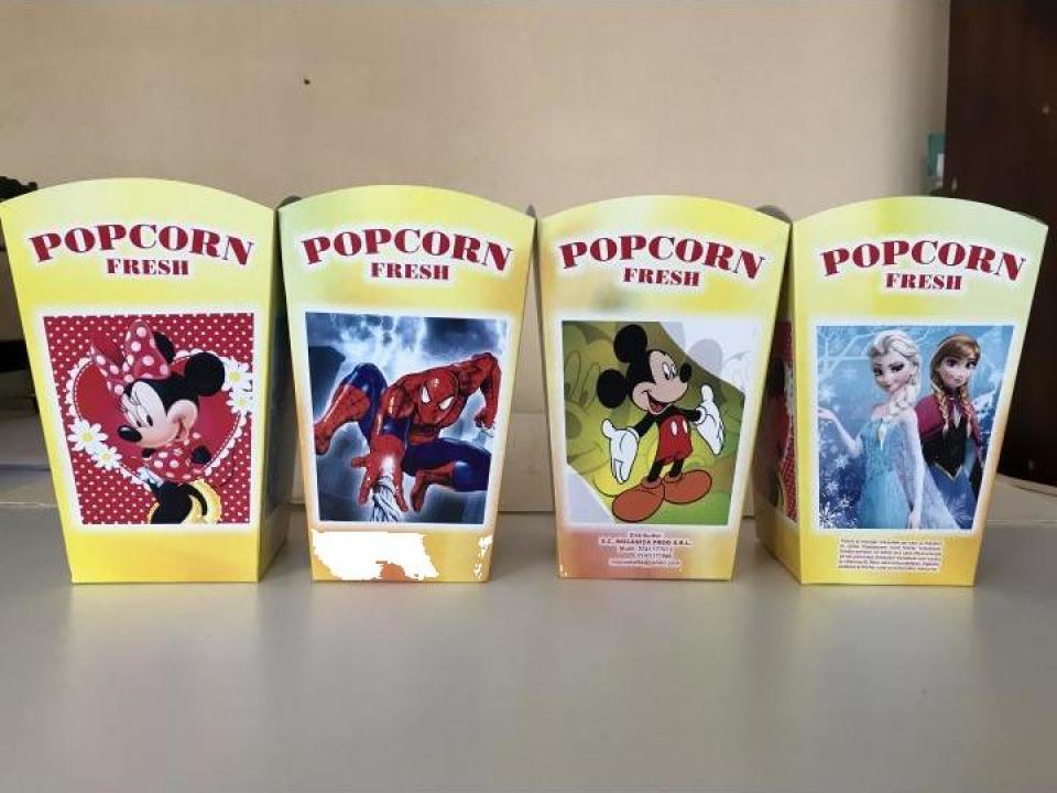Cutii popcorn mari The Best 120grame