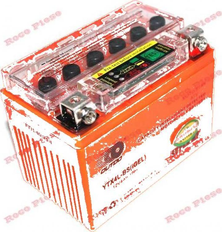 Baterie gel scuter, Atv 4AH 12v (portocalie)