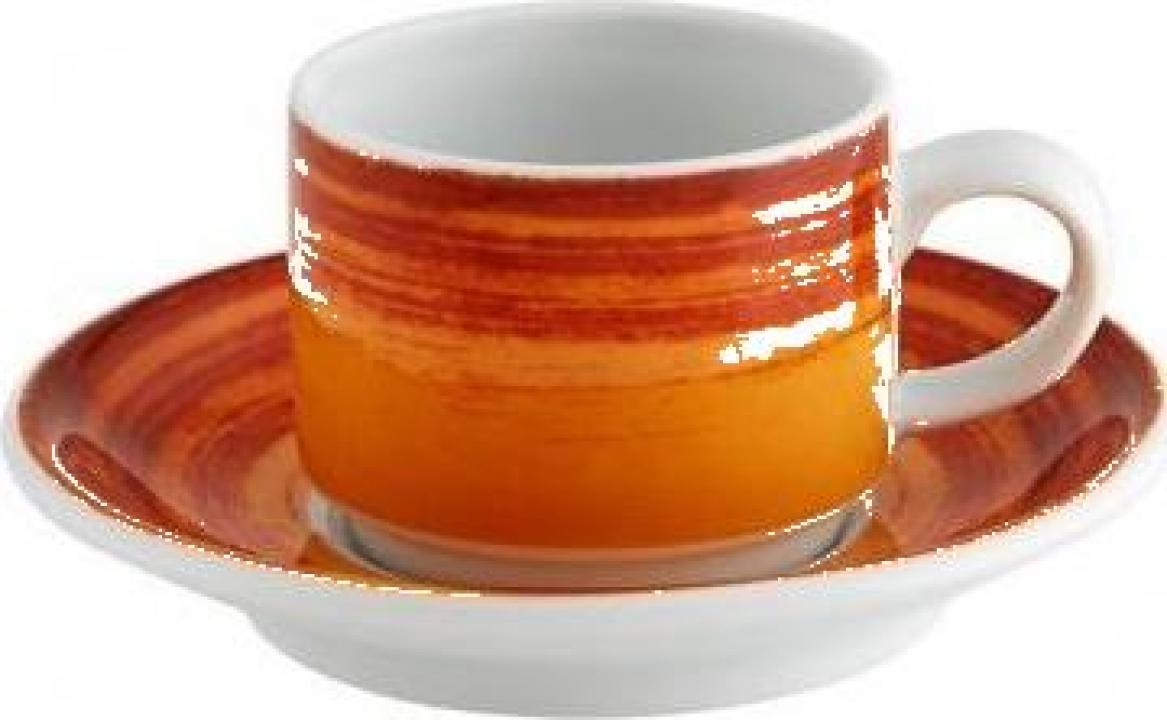 Ceasca + farfurioara 85 ml, mandarin