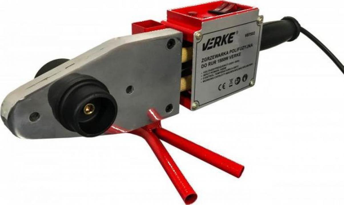 Trusa sudura teva PPR 1500W 20-63mm 12 elemente Verke V07502