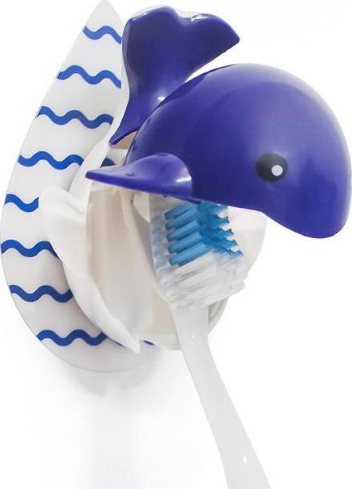Suport perie de dinti cu autocolant - Balena