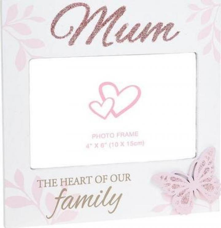 Rama foto cu sclipici cadou mama Mum Heart of the Family