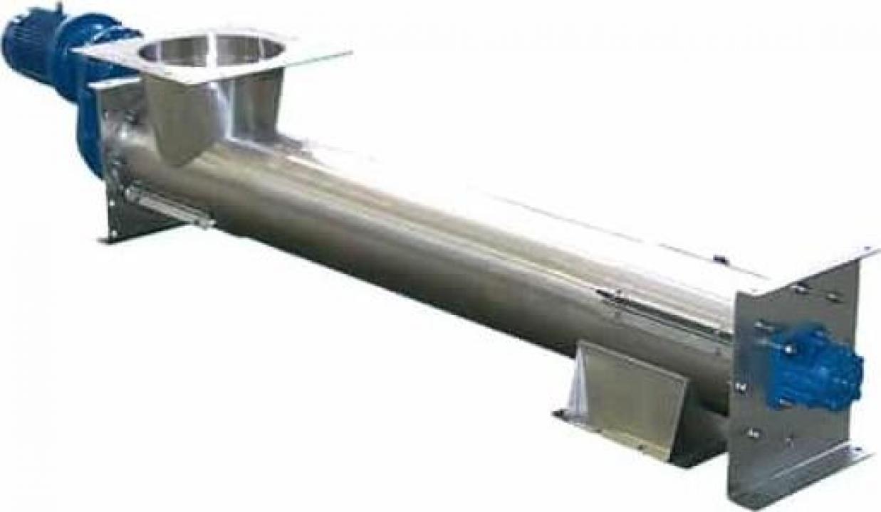 Transportoare cu snec elicoidale tubulare