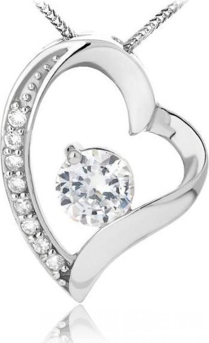 Martisor pandantiv din argint 925 Diamond Heart Feeling