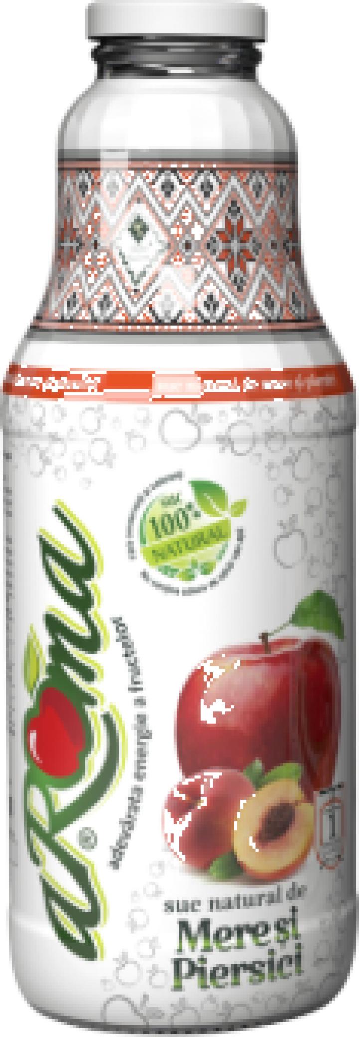Suc natural de mere si piersici - Aroma 1 L