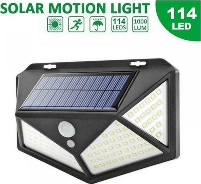 Lampa solara de perete cu senzor de lumina si miscare