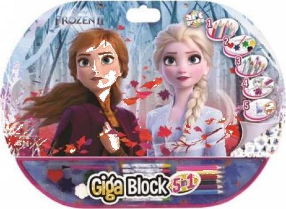 Set pentru desen 5 in 1 Gigablock Frozen2