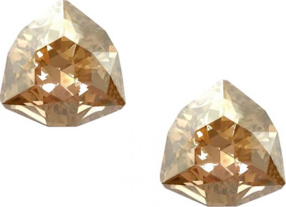 Cercei argint 925 si swarovski Trilliants Golden Shadow