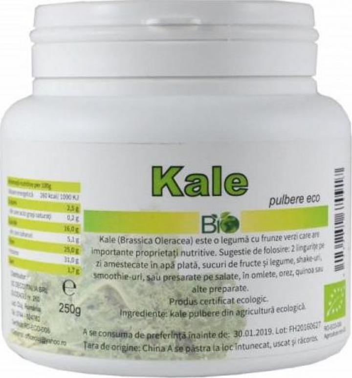 Pulbere Kale, bio 250g