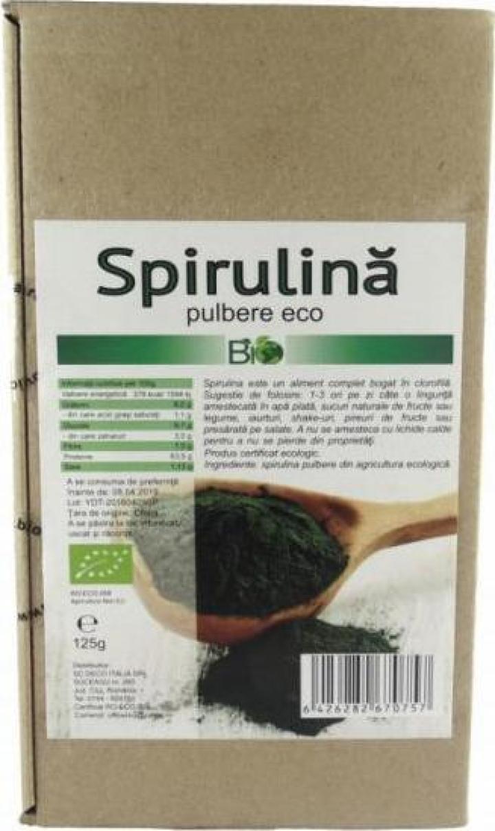 Pudra Spirulina, bio 125g