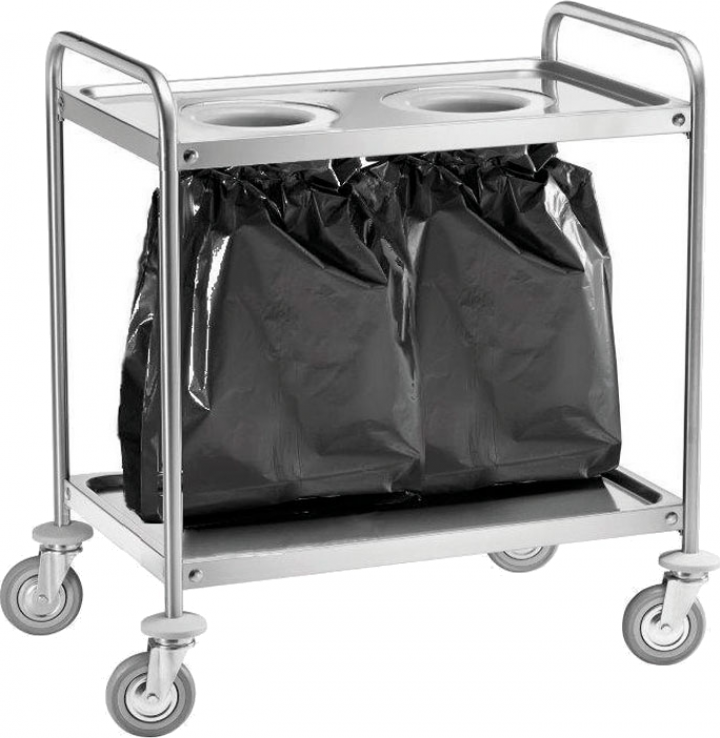 Carucior pentru reciclare din inox CA