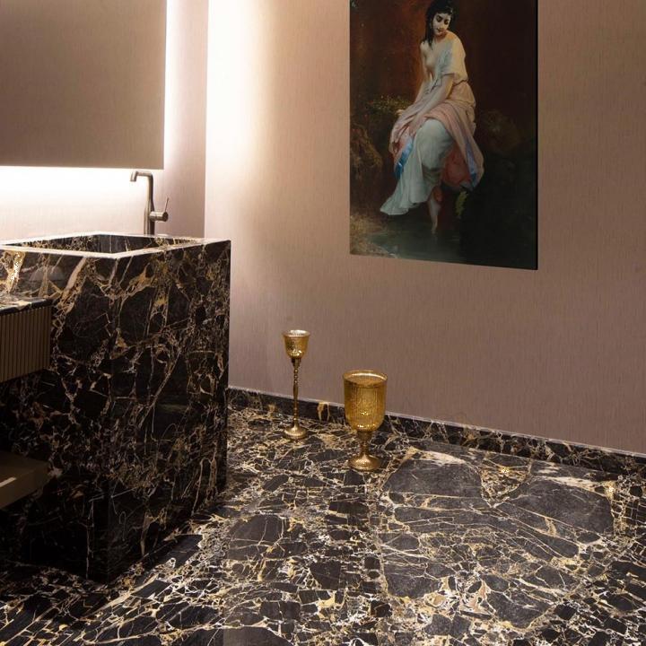 Marmura Portoro Gold Polisata 60 x 60 x 1.5 cm
